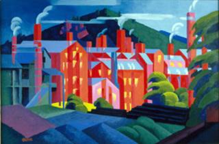 Jersey Silkmills (Paterson), Oscar Bluemner