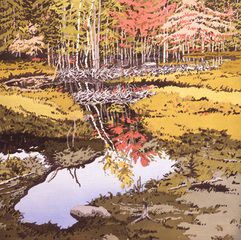 Study for New Dams in Meadows, Neil Welliver
