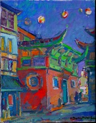 Lanterns Red and Green, Karl Dempwolf