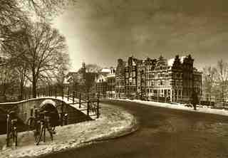 Amsterdam in winter,Marie-Jeanne van Hovell tot Westerflier