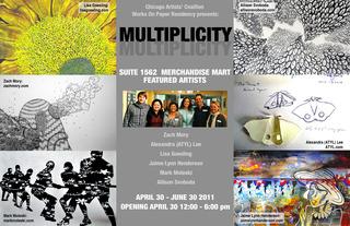 Chicago Artist\'s Coalition Works on Paper Residency, MARK MOLESKI, Allison Svoboda, Lisa Goesling, Zach Mory, Jaime Lynn Henderson Alexandra Lee ATYL