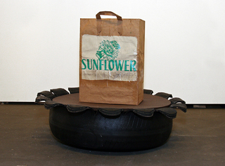 Sunflower Tire Planter, Scoli Acosta