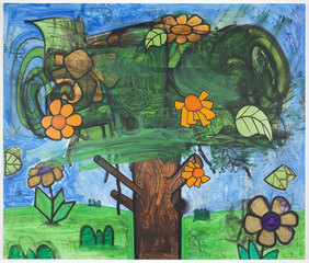 Time Storm Five (The Orange Flowers), Carroll Dunham