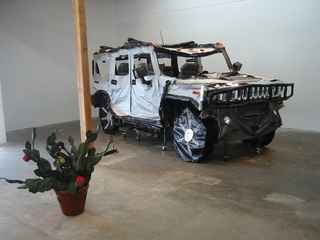 Hummer with cactus,Margarita Cabrera