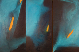 Drifting Darkness (triptych),Angela Wales Rockett
