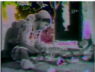 Film Still from Shopping Bag Spirits and Freeway Fetishes: Reflections on Ritual Space , Barbara McCullough