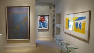 Installation at Meyerovich Gallery, SF, Robert Rauschenberg, Helen Frankenthaler, Robert Motherwell