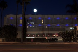 Piero Golia: Luminous Sphere installation On The Top of The Standard Hollywood!, Piero Golia