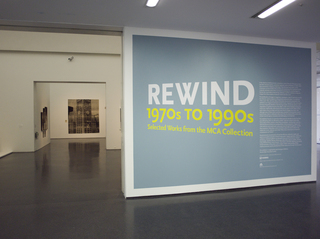 Installation view of Rewind: 1970s to 1990s: Works from the MCA Collection,