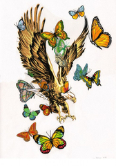 Untitled (Eagle and Butterflies),Jim Hodges