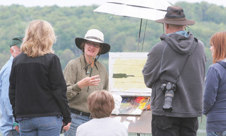 A recent plein air class with Lori Beringer,