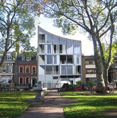 Rendering of Zaha Hadid's project for Kenny Schachter Rove on Hoxton Square in London,