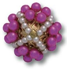 Button with pearls on metal made for Yves Saint Laurent, Roger Jean Pierre
