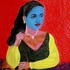 Blue_face_woman