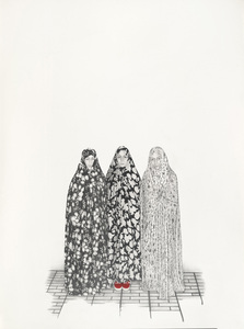 Taravat_talepasand-traditions_are_as_followed-2008-graphite__watercolor_on_paper-40x30