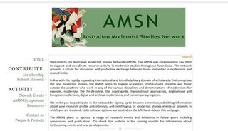 The Australian Modernist Studies Network website,