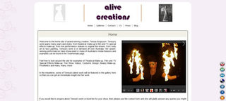 Example of a multi-page artist\'s website with blog,