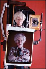 "Andy Warhol with 20"" x 24"" Polaroid Camera, Bill Ray"