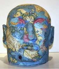Untitled (Map Head), David Wojnarowicz