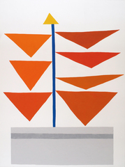 Orange Triangles, Jonas Wood