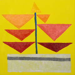 Smaller Yellow Square, Jonas Wood