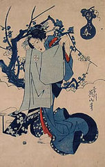 A Spring Scene–Woman Folding Robe, Japan,