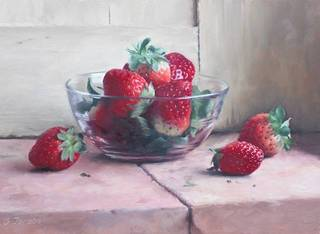 A Bowl of Strawberries,Gundula Jacobs