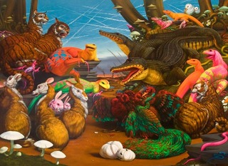 The Sleep of Reason Produces Monsters (Diorama with Rozerem and Black Alligators), Laurie Hogin