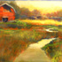 Red_barn_and_the_river