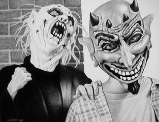 Maskers 2, Laurie Lipton