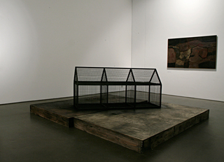 Installation view: Stuart Brisley exhibition 2009,