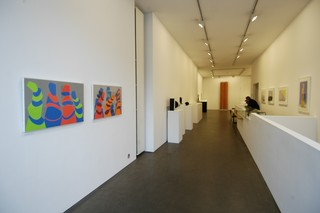 Installation view: Liliane Lijn exhibition 2006,