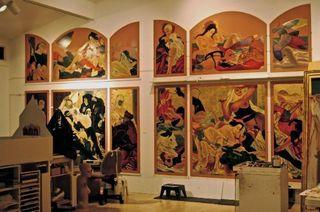 Triptych works in progress , Masami Teraoka