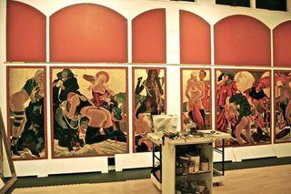 In progress triptychs, Masami Teraoka