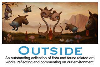 """""""Outside"""" exhibit card, Scott Musgrove"""