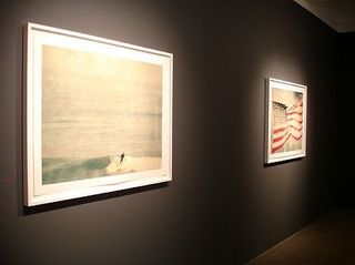 installation: Malibu #4 and Flag #1 Chippewa Falls, John Huggins