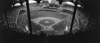 Yankee Stadium Shot from Upper Deck Behind Home Plate, Neil Leifer
