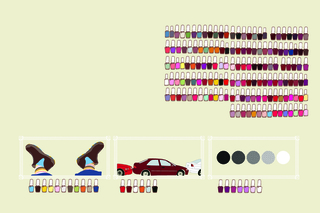 Arrange a Section,  excerpt from Mundane Journeys Field Guide to Color, Kate Pocrass