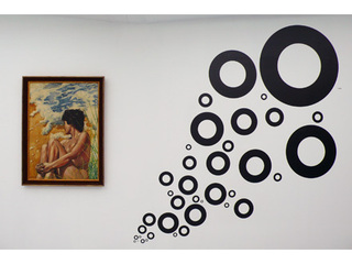 Featuring (installation view w/ Picabia, Ryan Gander,