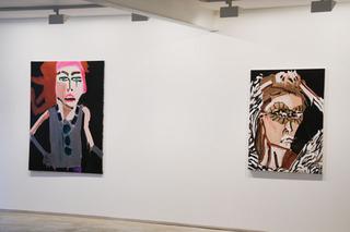 Installation view, Katharine Bernhardt