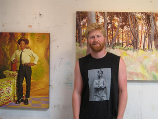 Seth Armstrong in his Oakland studio, Seth Armstrong
