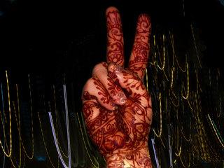 hand henna peace, Nancy Bechtol