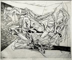 Combat, S.W. Hayter (1901 - 1988)