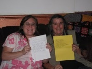 Photo of Bernadette Mayer and Jennifer Karmin  ,Bernadette Mayer, Jennifer Karmin