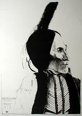 Chief White Man Kiowa, Leonard Baskin (1922 - 2000)