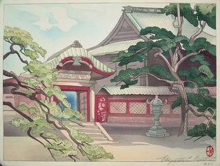 Temple Courtyard, Elizabeth Eaton Burton (1869 - 1939)