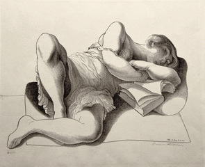 Girl Reading,Lorser Feitelson (1898 - 1978)