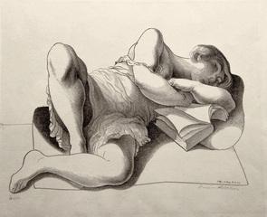 Girl Reading, Lorser Feitelson (1898 - 1978)