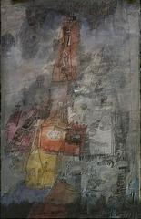 (gray cityscape) , Ynez Johnston (1920)
