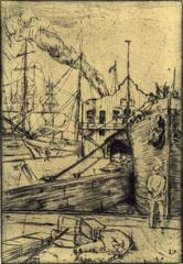 The Old Dock , Allen Lewis (1873 - 1957)